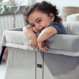 Travel Cot Easy Go Bundle - Silver Grey BabyBjörn