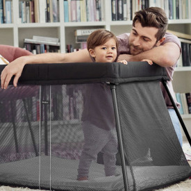 Travel Cot Easy Go Bundle - Black  Black BabyBjörn