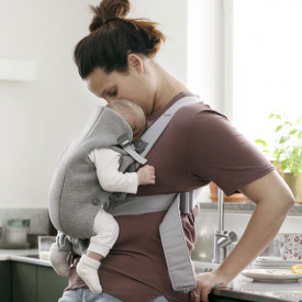 Baby Carrier Mini 3D Jersey - Light Grey Grey BabyBjörn