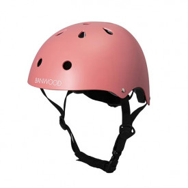 Bike Helmet - Coral  Pink Banwood