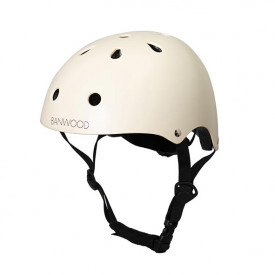 Bike Helmet - Cream  White Banwood