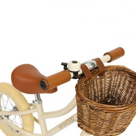 First Go Balance Bike - Cream  White Banwood
