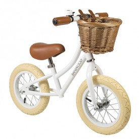 First Go Balance Bike - White White Banwood