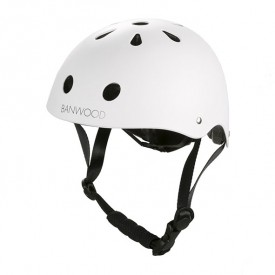 Bike Helmet - White White Banwood