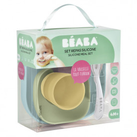 Silicone Meal Set 4 pcs - Yellow  Multicolour Béaba