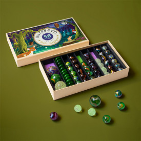 Box of 58 marbles - Fantastic Forest Multicolour Billes and Co