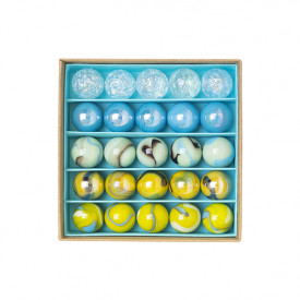 Box of 25 marbles - Papillons Multicolour Billes and Co