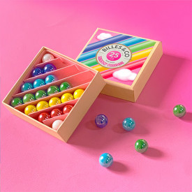 Box of 25 marbles - Rainbow Paradise Multicolour Billes and Co
