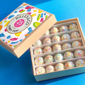 Box of 25 marbles - Candy Pop Multicolour Billes and Co