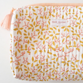 Toiletry Bag S - Banhi Rose Pink Bindi Atelier