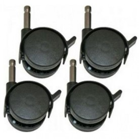 Set of 4 wheels for Brent Playpen Black Bopita