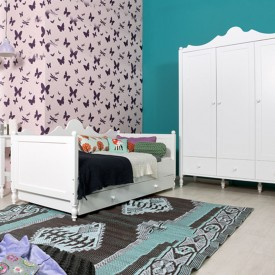 Belle Bench Bed  White Bopita
