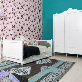 Belle 3 Doors Wardrobe White Bopita
