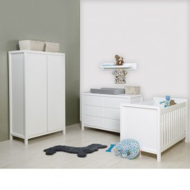 Dresser with 3 drawers Corsica White Bopita