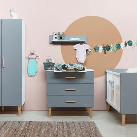 3 drawers dresser Emma - White/grey Multicolour Bopita