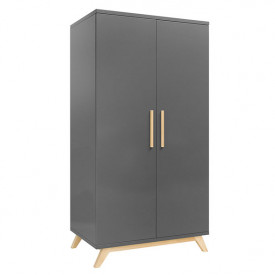 2 Doors Wardrobe XL Kyan Grey Bopita
