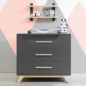 3 Drawers Dresser Kyan Grey Bopita