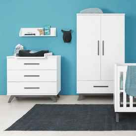 3 drawers dresser Levi White Bopita