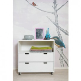 Chest on Wheels S Mix & Match - White White Bopita