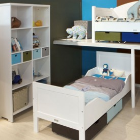 Bookcase Kim Mix & Match - White White Bopita
