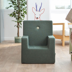 Kids Chair XL - Deep Green / Light Green Green by KlipKlap