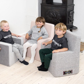 Kids Chair XL - Multi Grey / Grey Grey by KlipKlap
