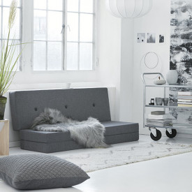 Mattress 3 Fold - Blue Grey / Grey Grey by KlipKlap