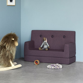 Kids Sofa - Plum / Plum Purple by KlipKlap
