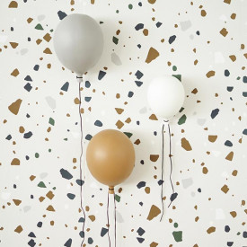 Ceramic Balloon Decoration - M - Grey  Grey ByON