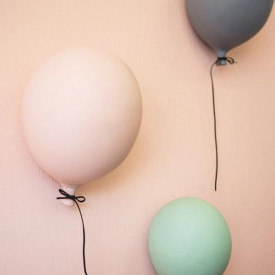 Ceramic Balloon Decoration - L - Pink  Pink ByON