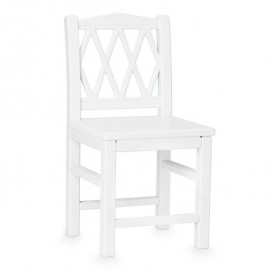 Harlequin Kid's chair - White White Cam Cam Copenhagen