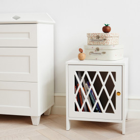 Harlequin Bed Side Table - White White Cam Cam Copenhagen