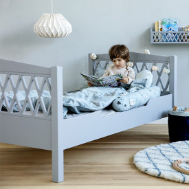 Junior Bed Harlequin 90x160cm - Grey  Grey Cam Cam Copenhagen