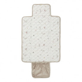 Travel Changing Mat - Quilted - Hazelnut  Beige Cam Cam Copenhagen