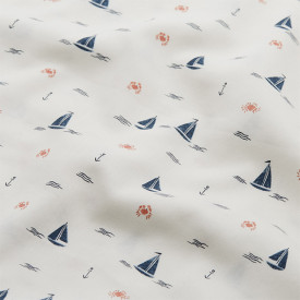 Bed Pocket - Sailboats Blue Cam Cam Copenhagen