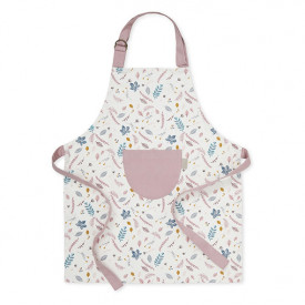 Kids Apron - Pressed Leaves Rose Multicolour Cam Cam Copenhagen