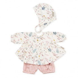 Doll's Clothing Set - Pressed Leaves Rose Multicolour Cam Cam Copenhagen