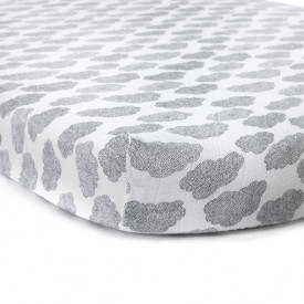 Fitted Sheet Cloud for Kumi Cradle Grey Charlie Crane