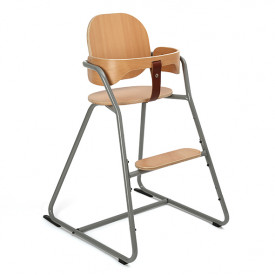 Convertible High Chair Tibu - Grey  Grey Charlie Crane