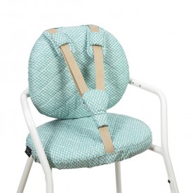 Tibu High Chair Backrest & sitting cushions - Diamond - Blue  Blue Charlie Crane