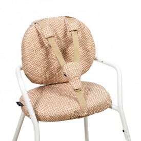 Tibu High Chair Backrest & sitting cushions - Diamond - Toast Beige Charlie Crane