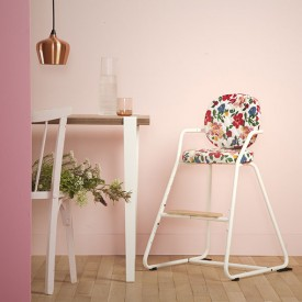 Tibu High Chair Backrest & sitting cushions - Hibiscus Multicolour Charlie Crane