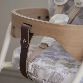 Tibu High Chair Backrest and sitting cushions - Cloud Moumout Grey Charlie Crane