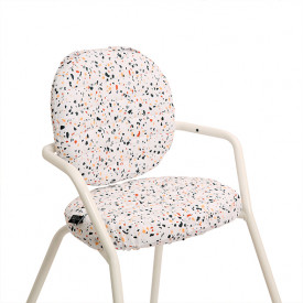 Tibu High Chair Backrest & sitting cushions - Terrazzo  Multicolour Charlie Crane