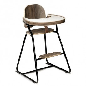 Table Tray Walnut for TIBU High Chair Black Edition White Charlie Crane
