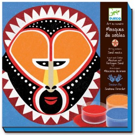 Colored Sand - Sand Masks Multicolour Djeco