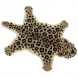 Loony Leopard Rug - L - 150 x 90 cm Multicolour Doing Goods