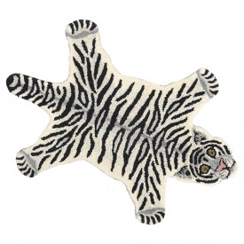 Snowy Tiger Rug - L - 150 x 90 cm Multicolour Doing Goods