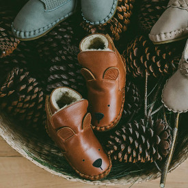 Kapi Lined Baby Boots - Bear Brown Donsje Amsterdam