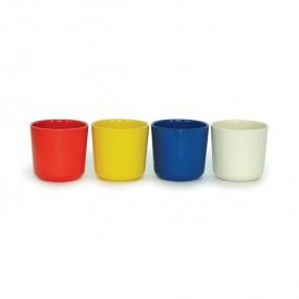 Pack of 4 cups - Tomato  Multicolour Ekobo